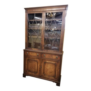 Antique Classical Mahogany Bookcase For Sale