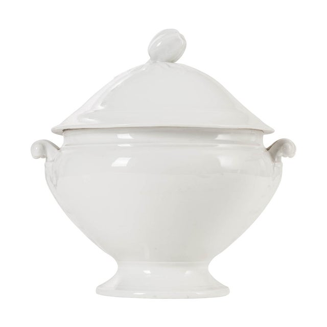 French White-Glazed Ironstone Soup Tureen For Sale In Baton Rouge - Image 6 of 6