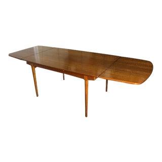 Danish Modern Arne Vodder Teak Extendable Dining Table For Sale