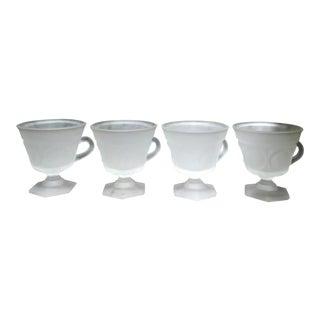 Opaque Coffee Pedestal Mugs - Set of 4 For Sale