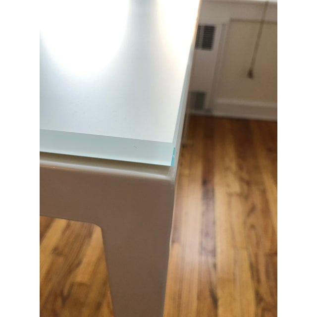 Glass Room and Board Custom Pratt Table For Sale - Image 7 of 10
