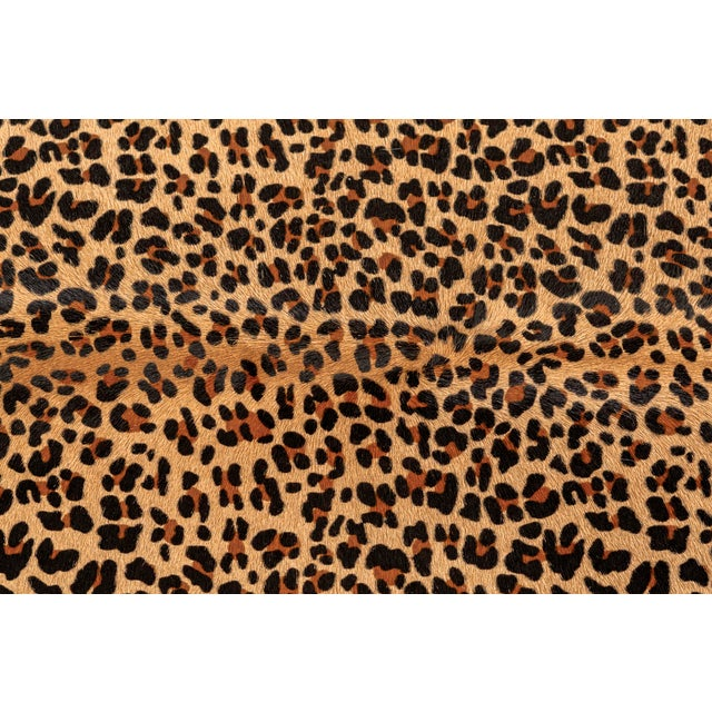 """leopard print (dyed) cowhide Brazil 82 ¼""""h x 62 ¾"""" w we offer free 2-day shipping in the Continental U.S. on all hides"""
