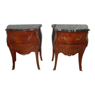 20th Century French Petite Bombe Commodes - a Pair For Sale