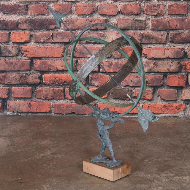 Art Deco Early 21st Century Antique Style Danish Garden Armillary / Sun Clock For Sale - Image 3 of 7