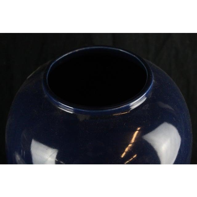Blue Glazed Pottery Vase For Sale - Image 4 of 13