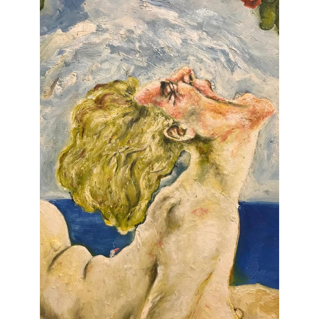 """Oil Paint """"Woman With Faces Around"""" Oil Painting by Jusan Carlos Bronstein For Sale - Image 7 of 10"""