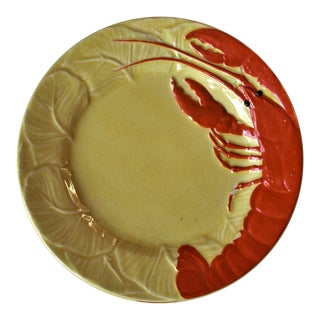 Maruhon Vintage Yellow and Red Lobster Plates, 1980s - Set of 4 For Sale