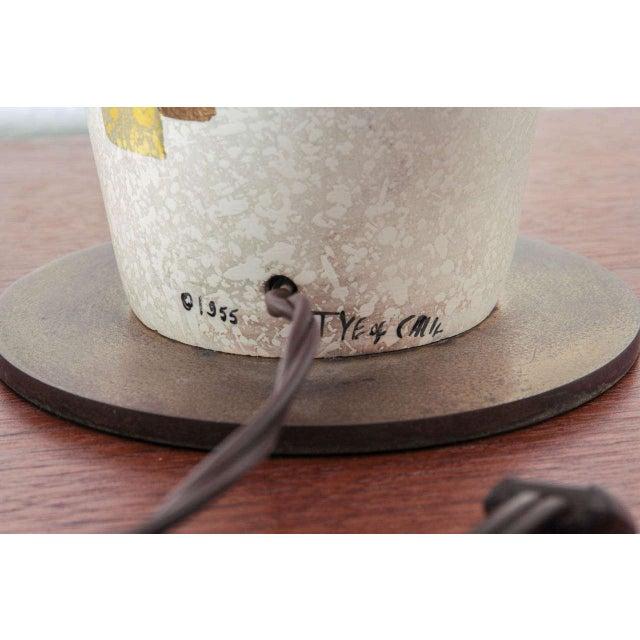 Mid-Century Modern Tye of California Ceramic Lamp For Sale - Image 3 of 5