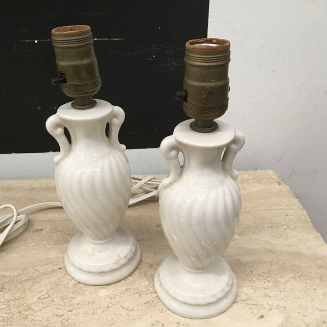 Vintage Petite Urn Shaped Lamps - a Pair For Sale - Image 4 of 6