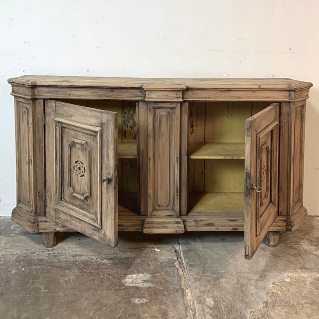 18th Century Stripped Pine Dutch Low Buffet For Sale - Image 4 of 12
