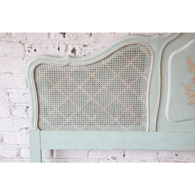 French Country John Widdicomb French Provincial Louis XV Style King Size Headboard For Sale - Image 3 of 7