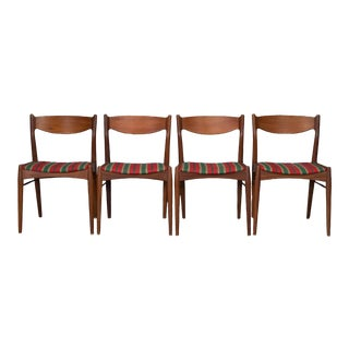 Danish Modern Teak Dining Chairs- Set of 4 For Sale