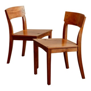 1990s Vintage Woodworker Studio Chairs- A Pair For Sale