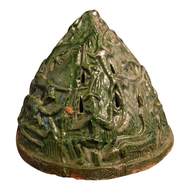 A Han Dynasty Green Glazed Boshanlu Censer For Sale