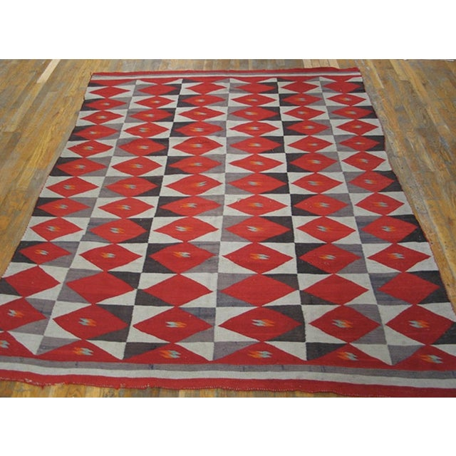 Native American 1900s Antique Navajo Style Rug For Sale - Image 3 of 6
