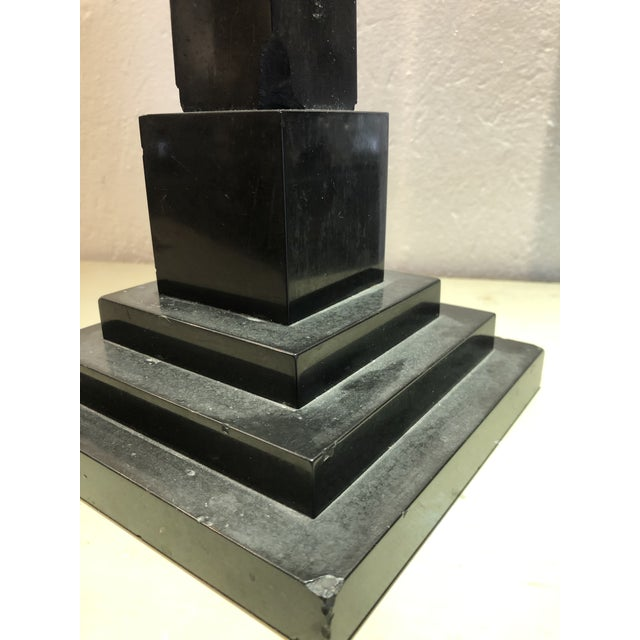 Early 20th Century Inlaid Stone Obelisk For Sale - Image 5 of 13