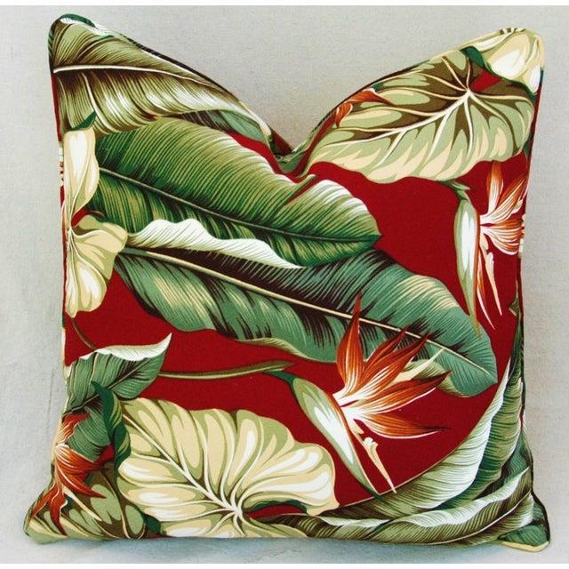 Custom Tailored Bird of Paradise Barkcloth Feather/Down Pillow - Image 4 of 5