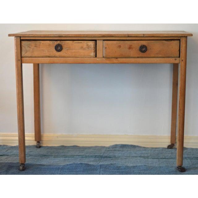 Antique French Farmhouse Pine Desk - Image 2 of 8