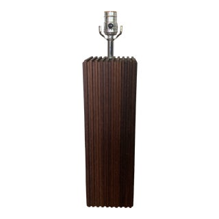 1960s Mid Century Modern Wooden Lamp For Sale