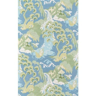 Madcap Cottage Embrace Blue Area Rug 5' X 8' For Sale