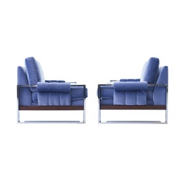 Image of Mohair Club Chairs