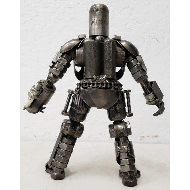 Industrial Heavy Gauge Scrap Metal Robot Sculpture For Sale - Image 3 of 9