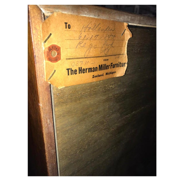 Mid-Century Modern Herman Miller George Nelson Two Part Glass Bookcase Cabinet For Sale In New York - Image 6 of 7