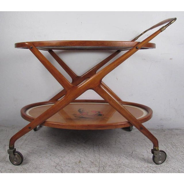 Italian Modern Serving Cart by Cesare Lacca For Sale In New York - Image 6 of 9