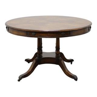 Maitland Smith Regency Style Round Mahogany Dining Table For Sale