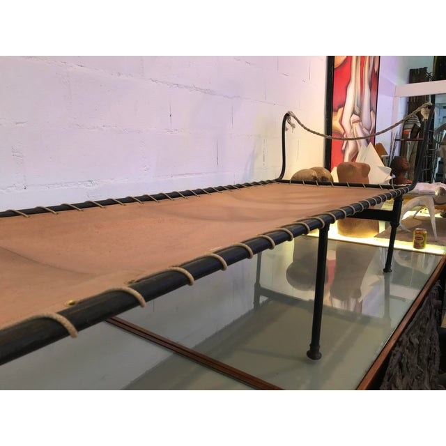 19th Century Antique French Campaign Daybed For Sale - Image 4 of 11