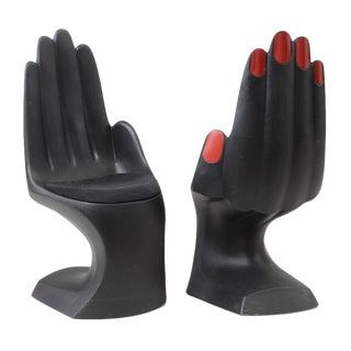 Modern Hand Shaped Chairs - a Pair For Sale