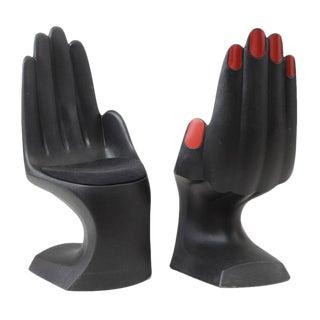 Modern Hand Shaped Chairs by European Touch - A Pair