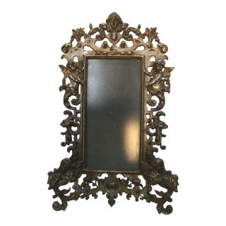 19th Century French Silver Plate Picture Frame For Sale