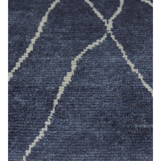 2000 - 2009 Handwoven Moroccan Inspired Wool Rug For Sale - Image 5 of 7