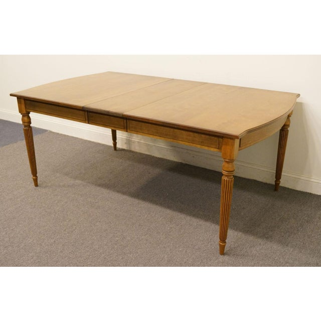 Wood 20th Century Italian Neoclassical Tuscan Dining Table For Sale - Image 7 of 12