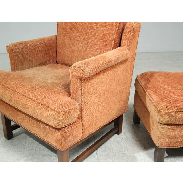 Edward Wormley Lounge Chair with Ottoman For Sale - Image 9 of 9