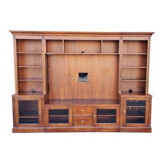 Ethan Allen British Classics Cinnabar Multiple Piece Media Center Wall Unit For Sale