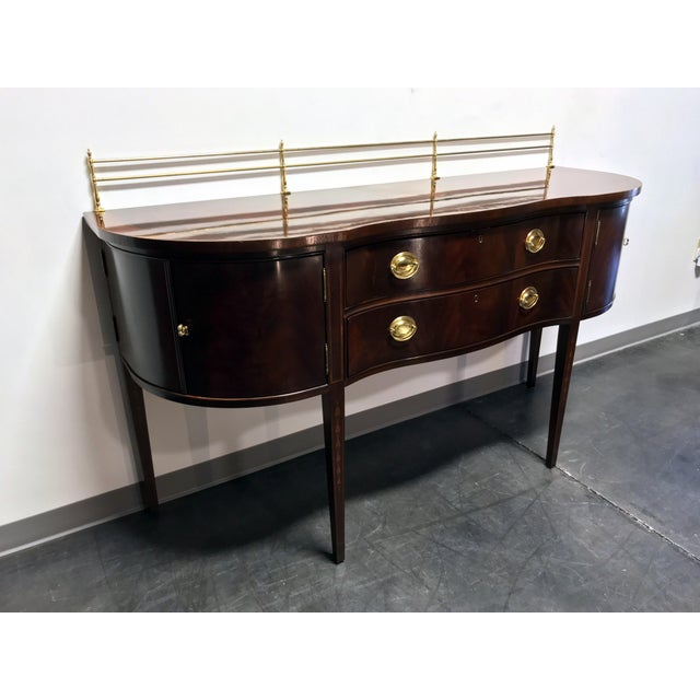 Federal Bernhardt Centennial Collection Federal Style Serpentine Mahogany Sideboard For Sale - Image 3 of 13