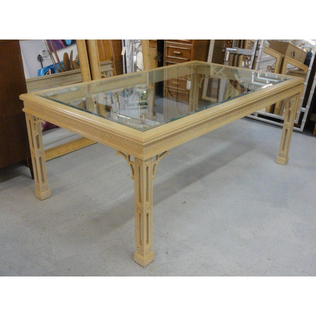 Hollywood Regency Fretwork Dining Table - Image 11 of 11