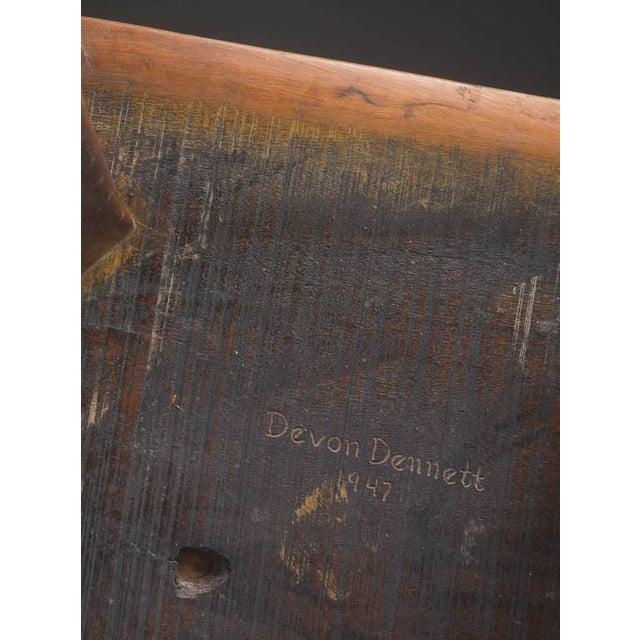 Devon Dennett Unique American Craftsman Armchair, 1938 For Sale - Image 5 of 5