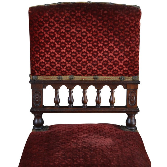Dining Chairs Antique French Renaissance Set 16 For Sale - Image 4 of 9