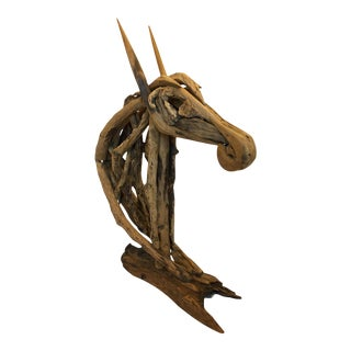Contemporary Driftwood Horse Sculpture For Sale