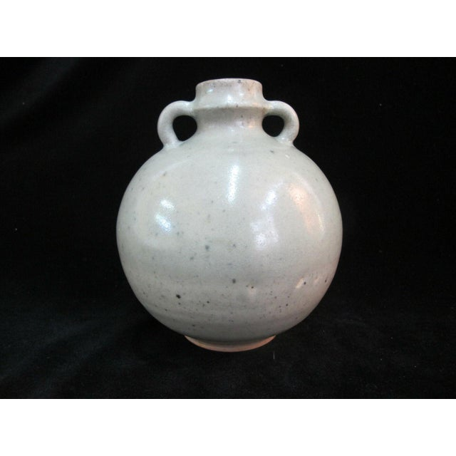 Ceramic Antique Chinese Celadon Globular Pot With Double Loop Handles For Sale - Image 7 of 7