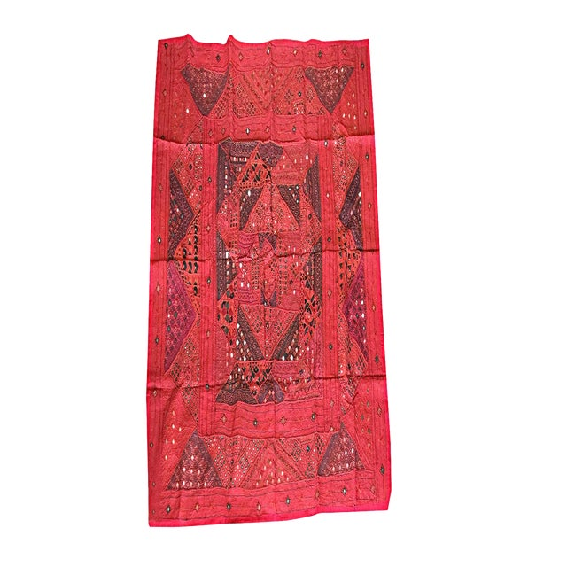 Mogul Indian Banjara Tapestry Hand Embroidered Wall Hanging Throw For Sale