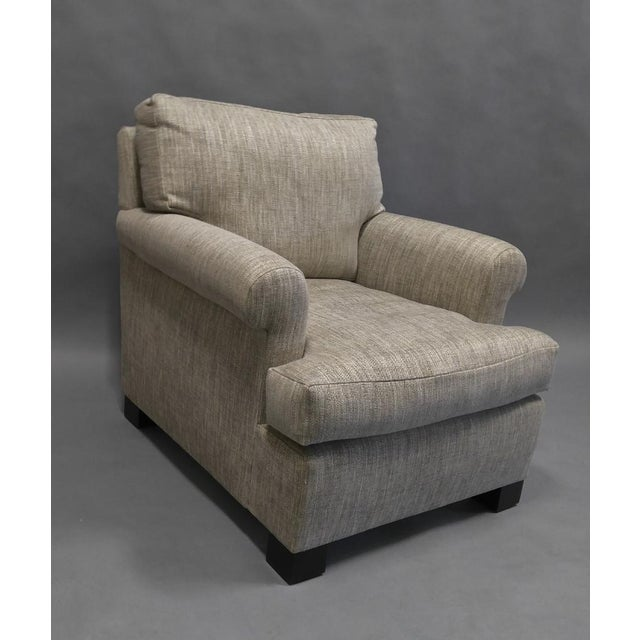 """Lounge Chair, Down Construction in Colfax and Fowler Fabric F4226-09 Arundel - Silver Overall dimensions: 34"""" Wide (from..."""