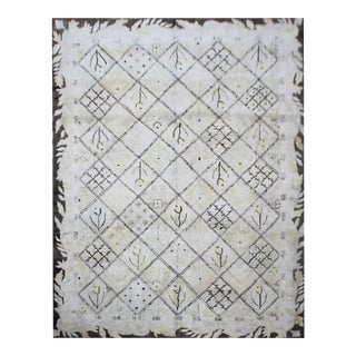Early 20th Century Antique American Hand-Hooked Rug - 8′8″ × 11′8″ For Sale