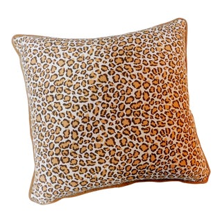 Modern Cheetah Print Pillow For Sale
