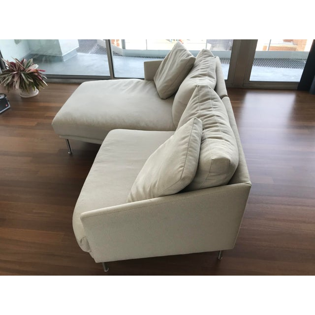 Mid-Century Modern Modern Design Within Reach Camber Compact Sectional Sofa For Sale - Image 3 of 12