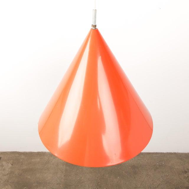 Orange 1960s Mid-Century Orange Billiard Pendant by Arne Jacobsen for Louis Poulsen For Sale - Image 8 of 10