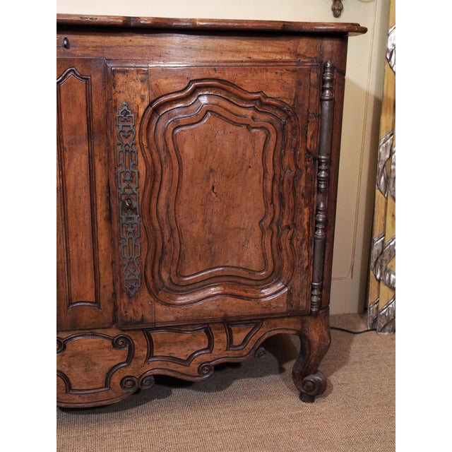 Metal Early 18th century French Carved Walnut Buffet For Sale - Image 7 of 11